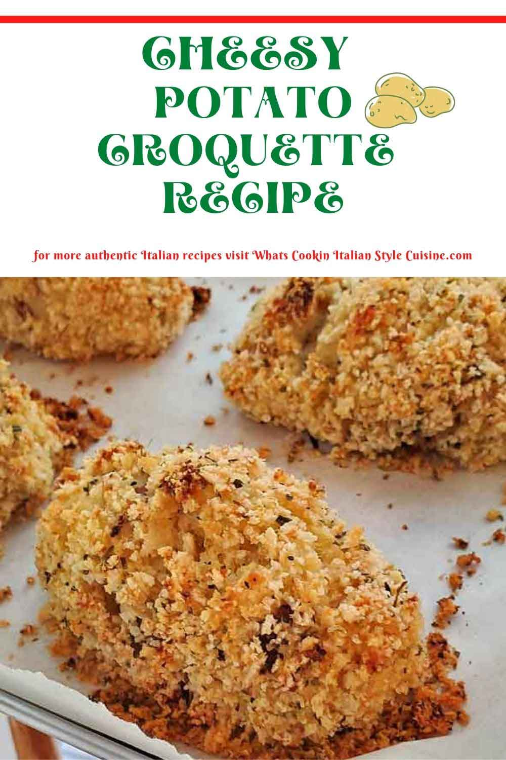 this is a pin on how to make potato croquettes