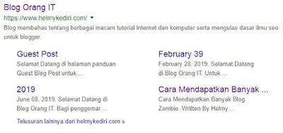 Pengertian Sitelink google