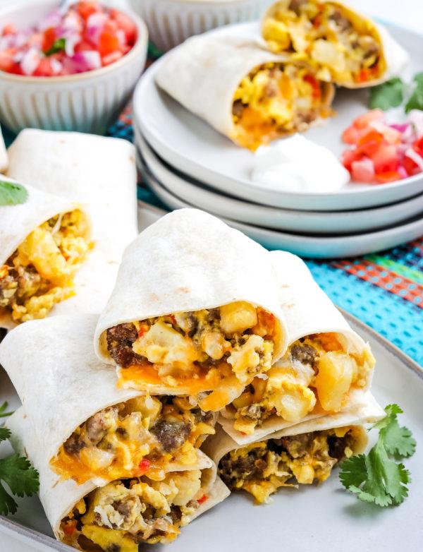 Gluten Free Breakfast Burritos