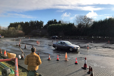 BMW 3 Series on the Skid Pan at Castle Combe Circuit