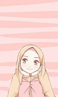 5 Gambar kartun muslimah lucu