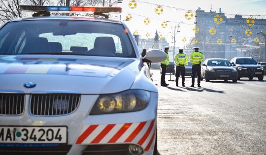 Poliția Rutieră a dat iama, aseară, în vitezomani și șoferii băuți. Amenzi de 56 mii lei și 28 de permise reținute