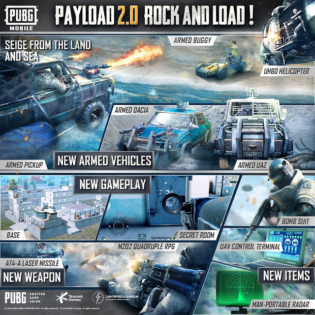 PUBG Mobile Payload 2.0 Rock and Load new features