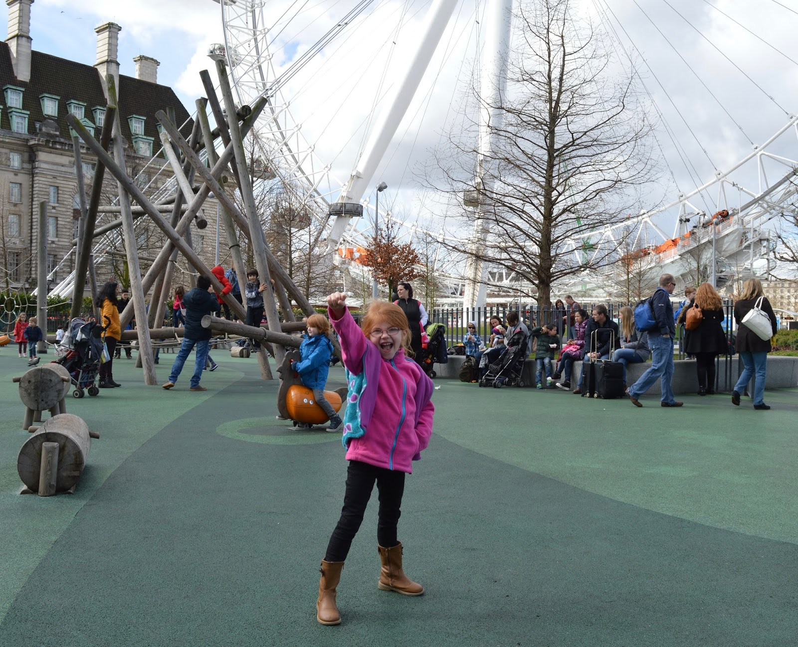 A family day trip to London with Virgin Trains East Coast - Jubilee Gardens playground at London Eye