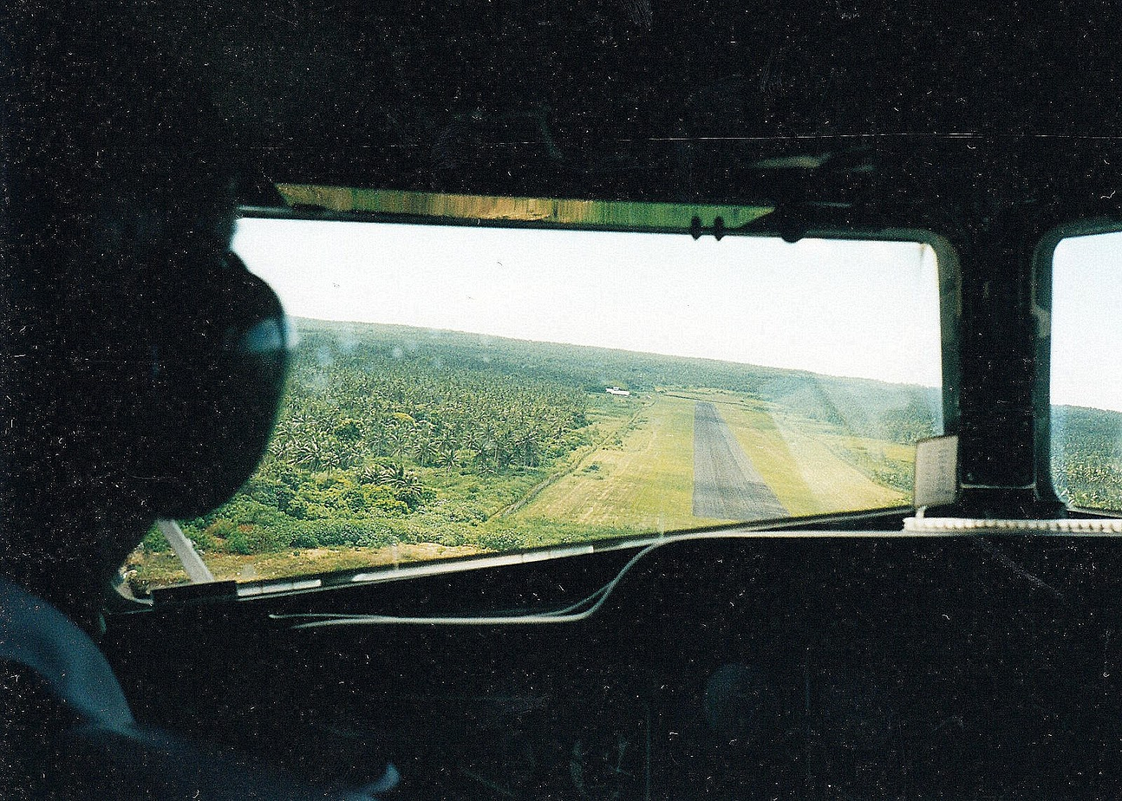 Tonga travel experiences can be very interesting, like this photo taken during landing