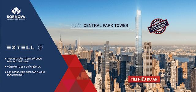 """Tư vấn đầu tư dự án EB-5 """"Central Park Tower"""""""