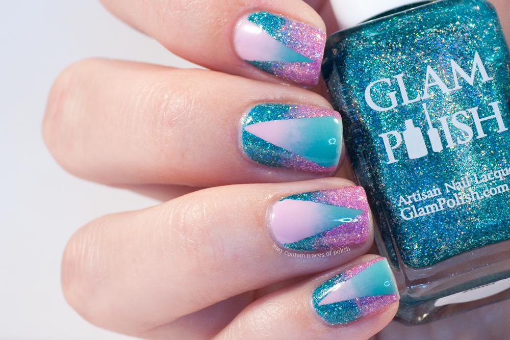 Great Nail Art Ideas - Pink and Aqua - May contain traces of polish