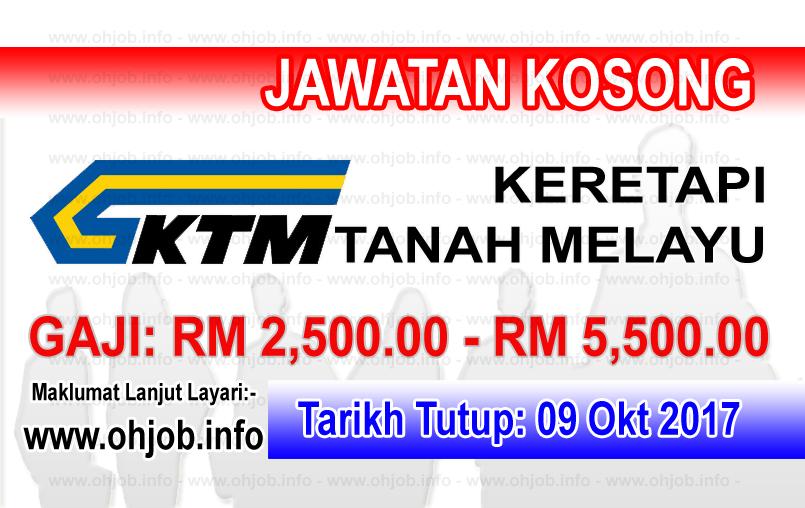 Jawatan Kerja Kosong KTMB - Keretapi Tanah Melayu Berhad logo www.ohjob.info oktober 2017