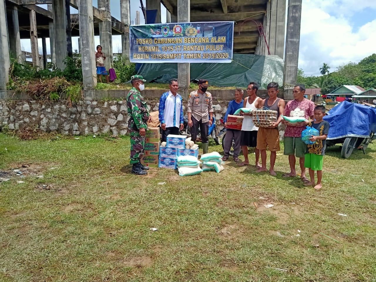 Sinergi Tiga Pilar, Bantu Warga Korban Bajir Kecamatan Seruyan Tengah