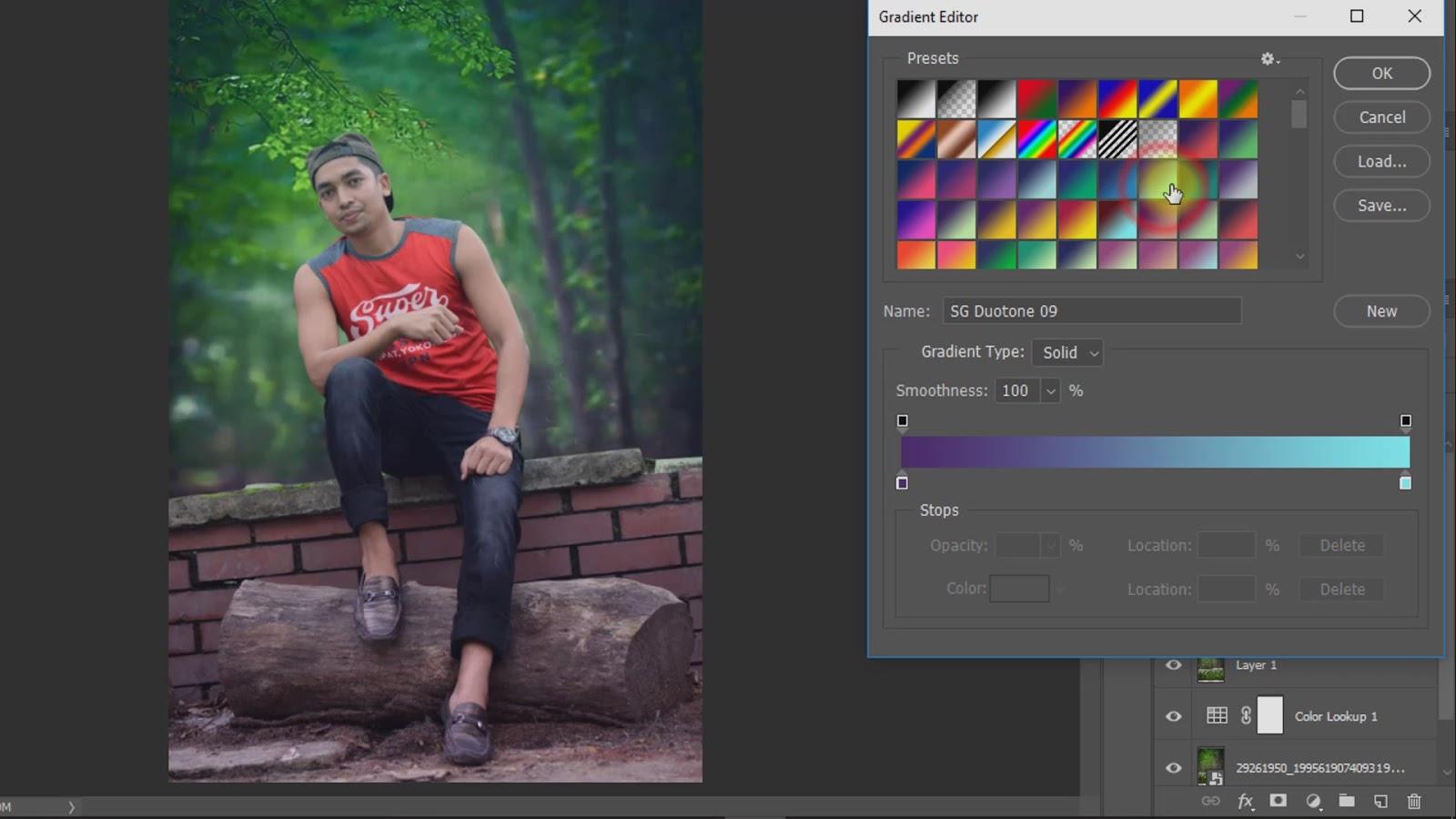 outdoor portrait photo manipulations working screenshot 4