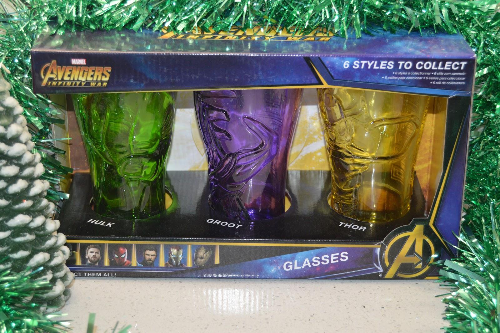 Avengers Infinity War glasses