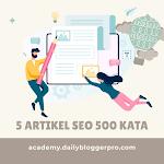 Jasa Artikel SEO - Paket 5 Artikel 500 Kata