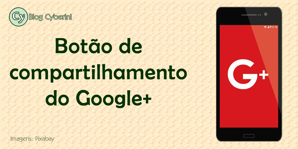 Botão de compartilhamento do Google+