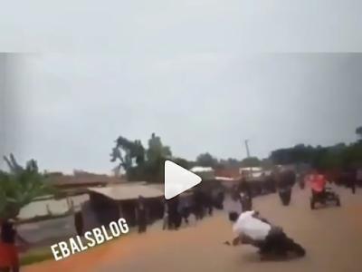 Bike Stunts Goes Wrong, Thank God No Life Lost. VIDEO