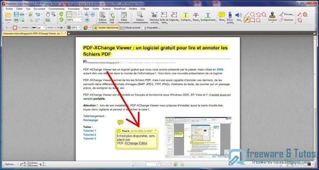 PDF-XChange Editor : un logiciel pour annoter/éditer les PDF