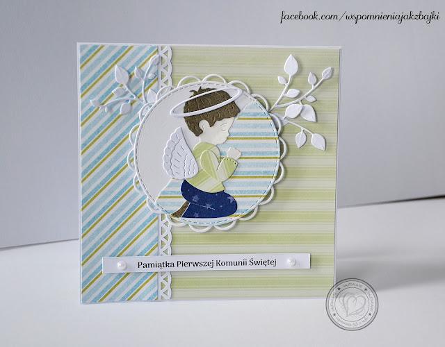 Kartka z okazji Pierwszej Komunii Świętej dla chłopca