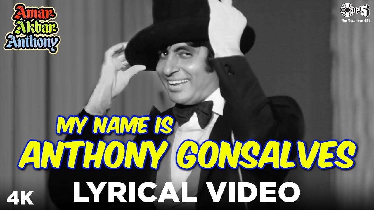 my name is anthony gonsalves lyrics in hindi