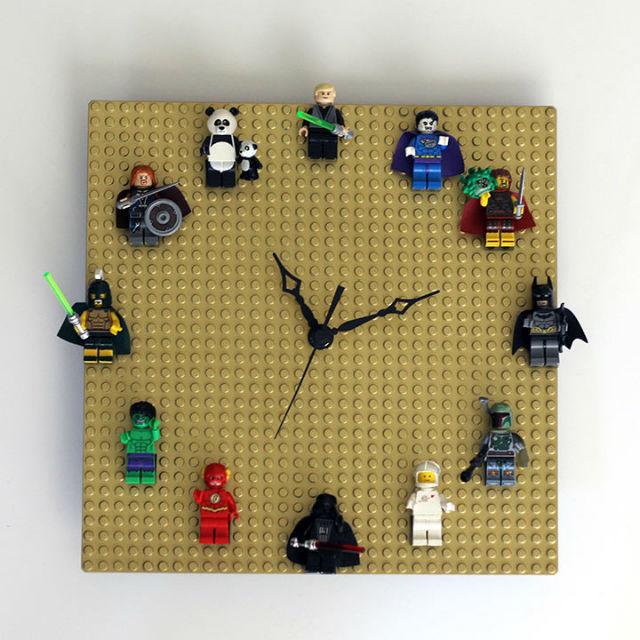 reloj geométrico diy Lego