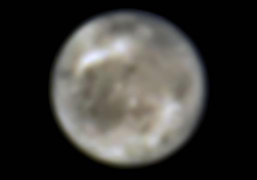 Ganimedes, vista pelo Telescópio Espacial Hubble da NASA em 1996.