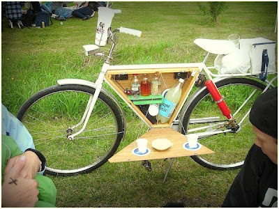 Awesome bicycle bar cart
