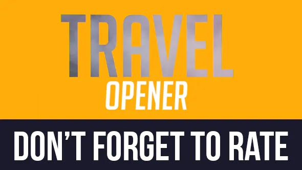 Videohive Colorful Travel Opener — Typography Slideshow 11443953