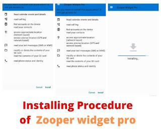 install Zooper Pro apk