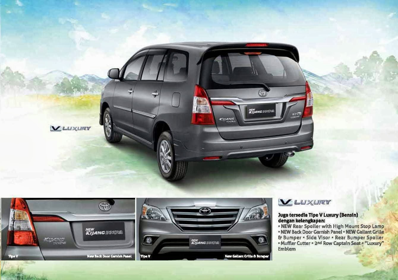 grand new kijang innova toyota yaris trd parts brosur 2014 promo dealer