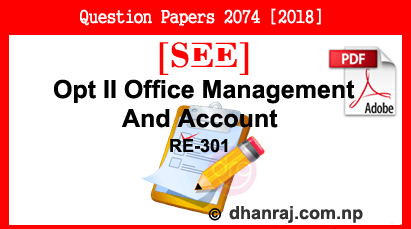 Optional II Office Management And Account   Exam Paper