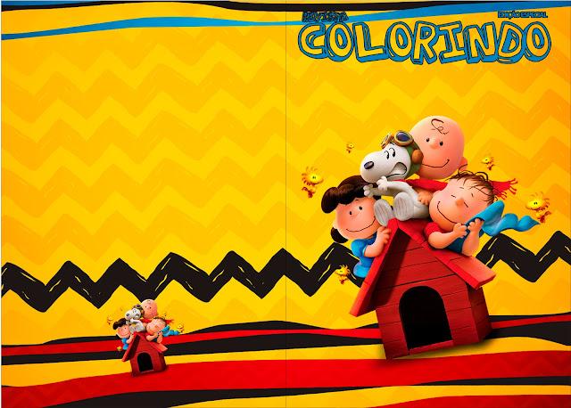 Para Libro para Colorear para Fiesta de Charlie Brown y Snoopy.