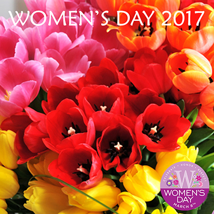 Welcome spring with womens day flower talk march 8th 2017 is a day to celebrate the social political and economic achievements of women and focus attention on areas still needing action flowers mightylinksfo