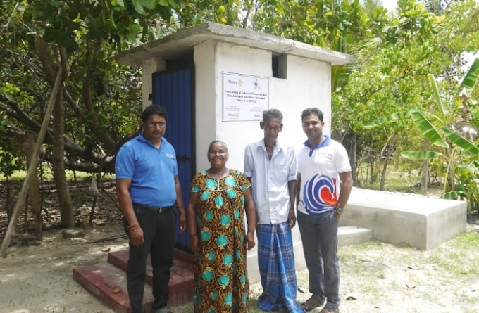 3 unit Toilet Facilities to Lagoon Border Families - RC Batticaloa Heritage