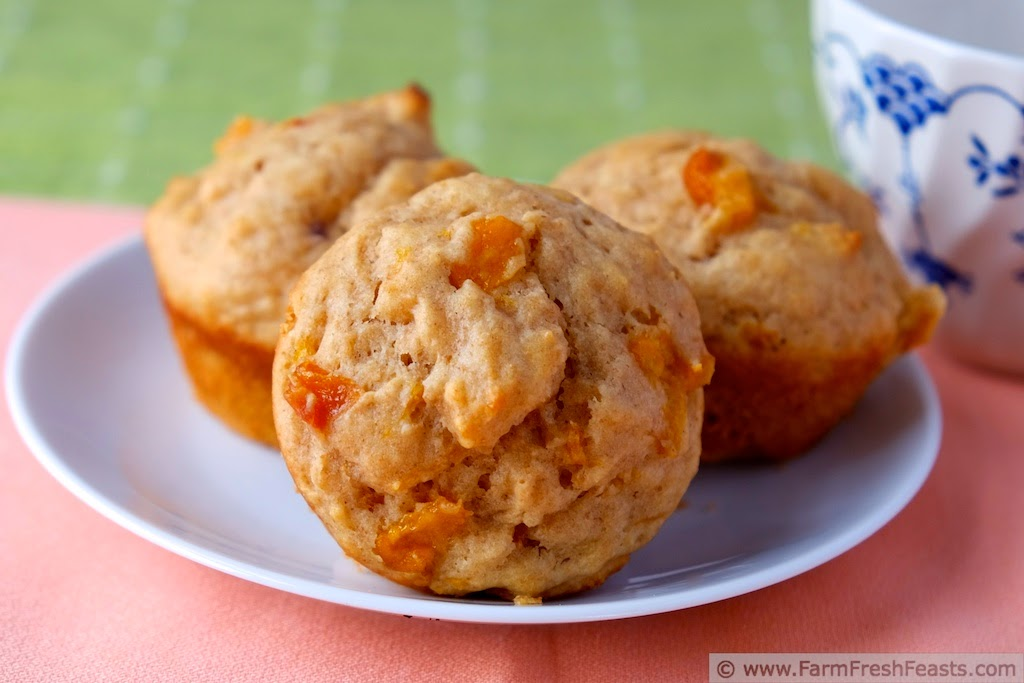Macerated Peach Yogurt Muffins | Farm Fresh Feasts