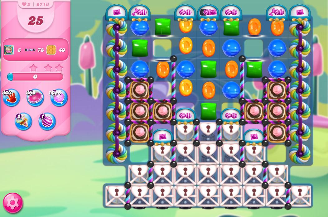 Candy Crush Saga level 8716