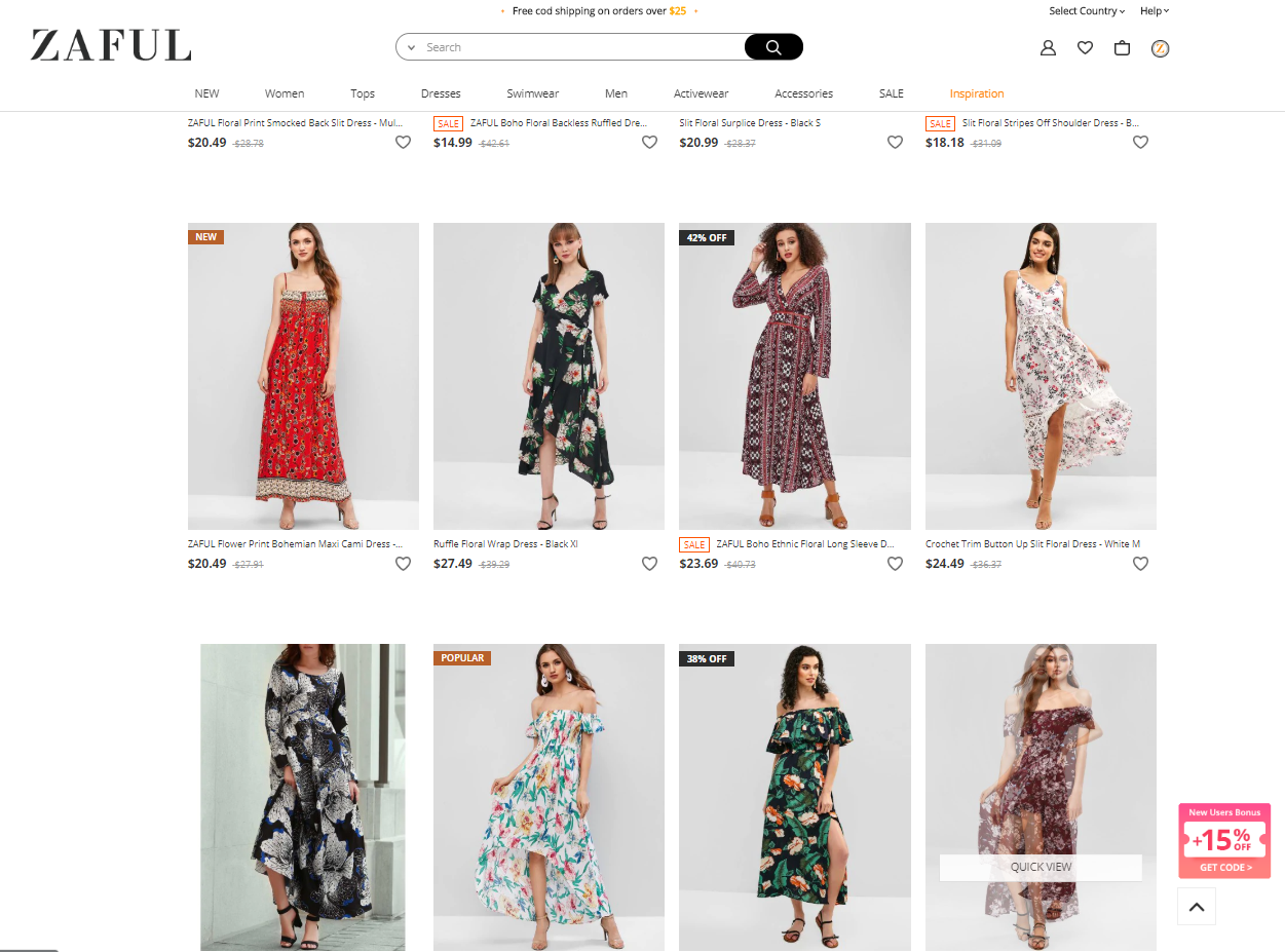Where to buy trendy and affordable maxi dress online? - Zaful Review