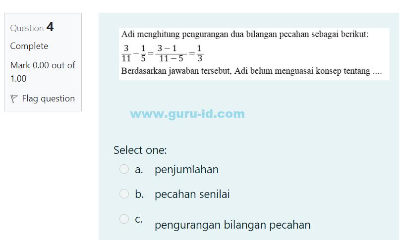 gambar jawaban soal pembelajaran 2 bilangan pecahan