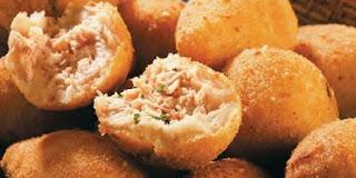 Bolinho de salmão Chefs em Ação