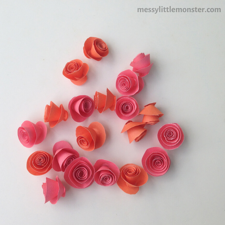 Rose heart paper craft for kids