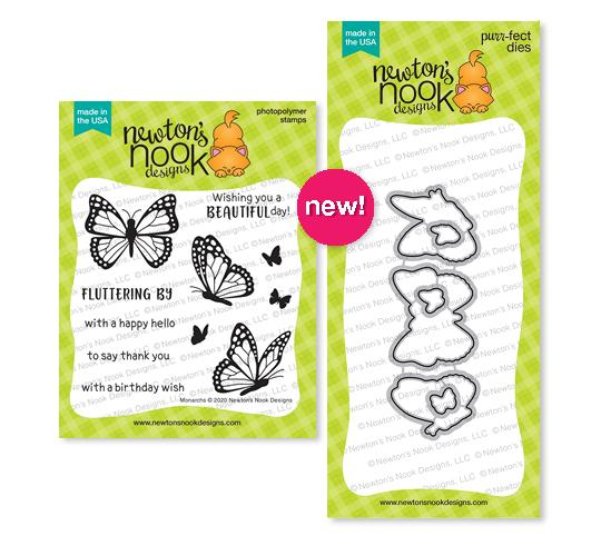 Monarchs Stamp and Die Set by Newton's Nook Designs