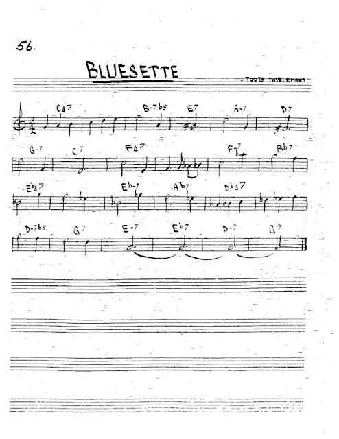 Partitura Trompeta Toots Thielemans