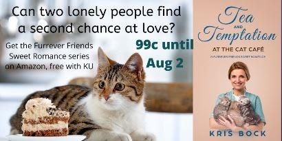 A Sweet Romance set at a cat café - on sale now! Get your friends to lovers and mature romance, plus rescue cats. 😻♥ #SweetRomance #ContemporaryRomance #Romance #MFRWauthor