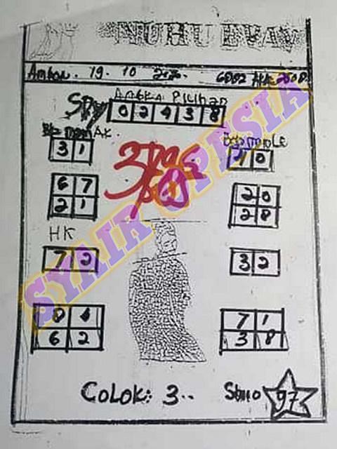 Kode syair Hongkong senin 19 oktober 2020 93