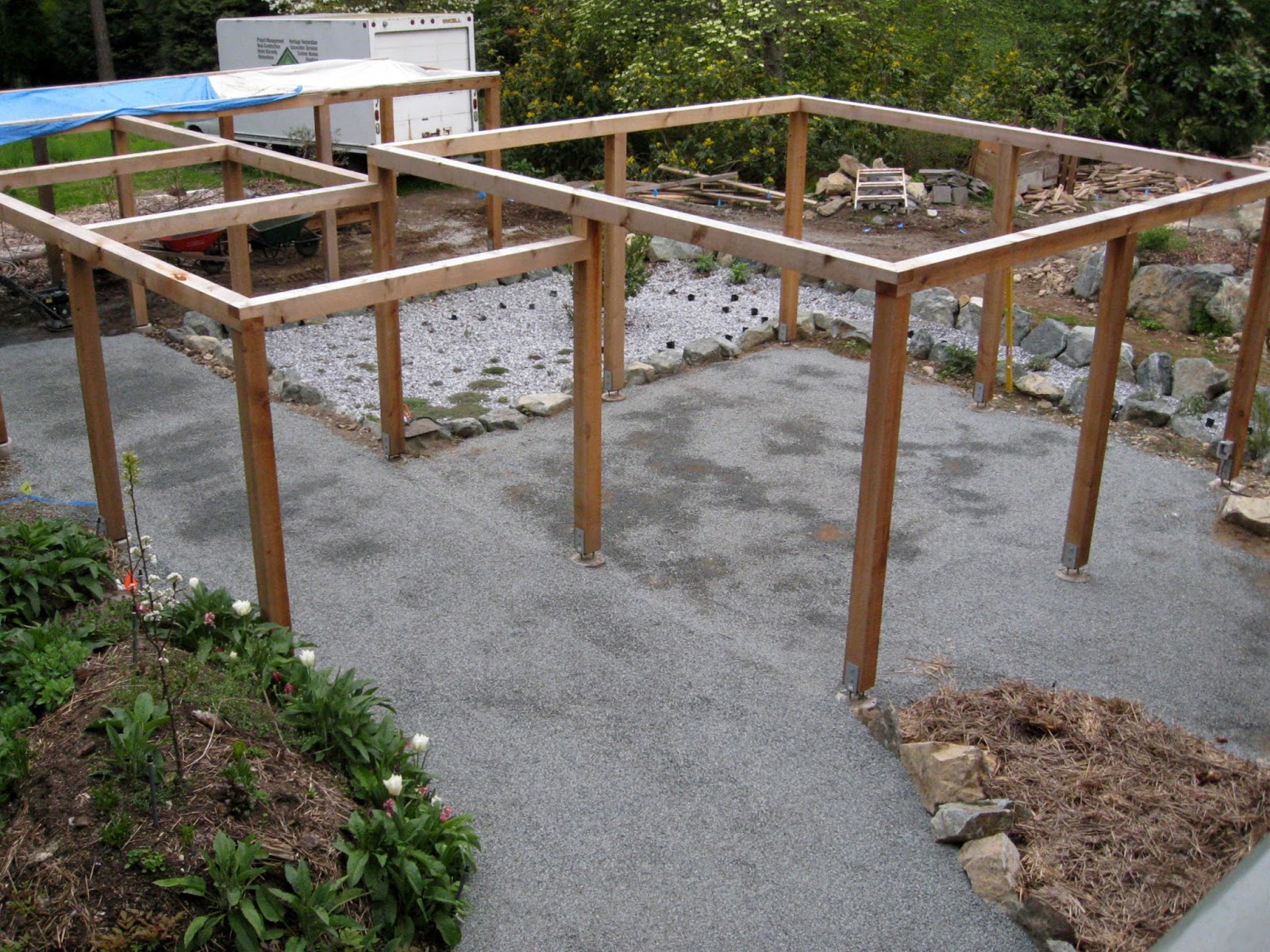 Lesley Turner Backyard Project Spreading The Gravel