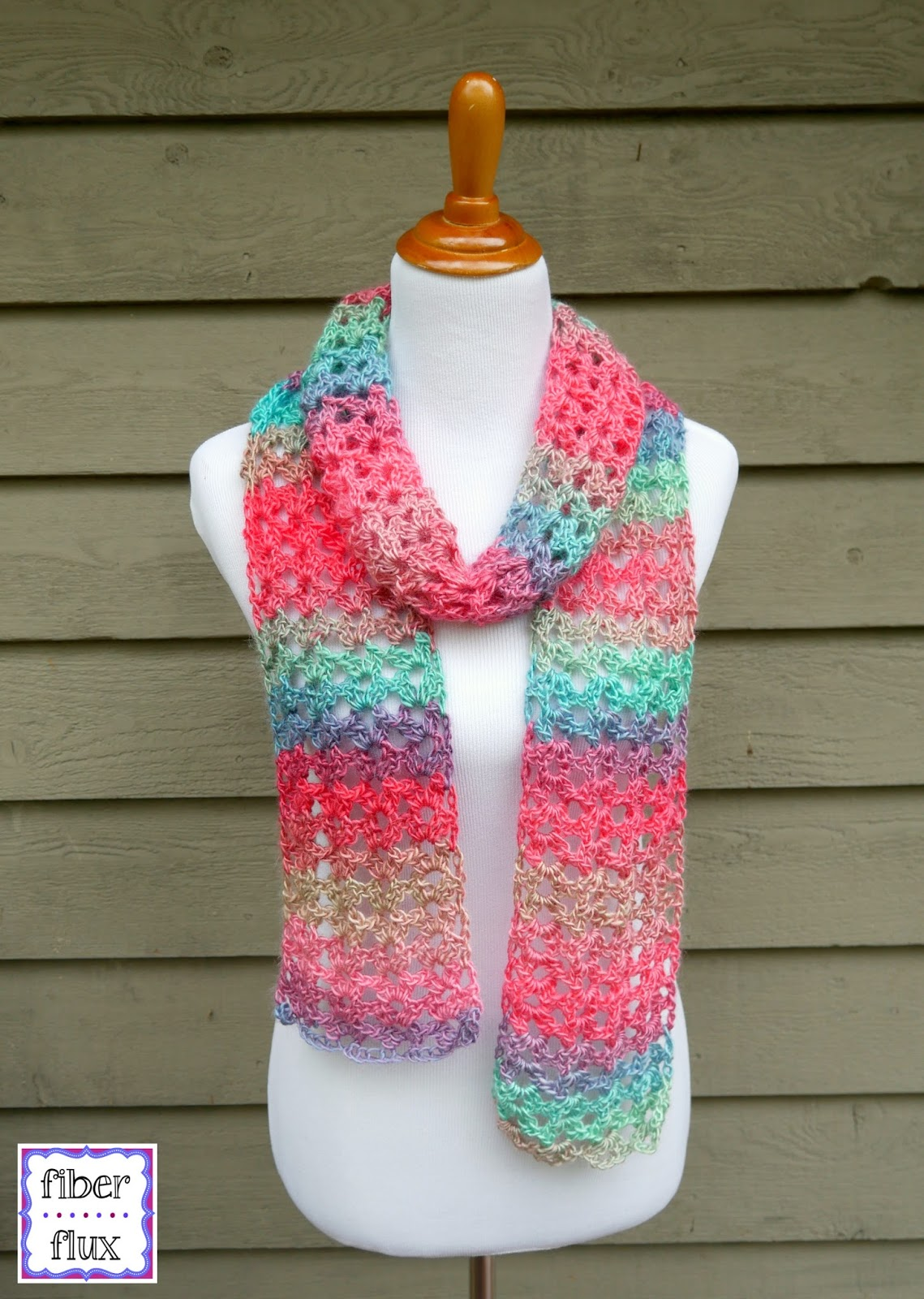 Fiber Flux Free Crochet Patternisland Lace Scarf