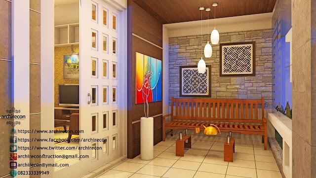 Hunian Berkarakter Dengan Sentuhan Arsitekstur - Ruang Tamu