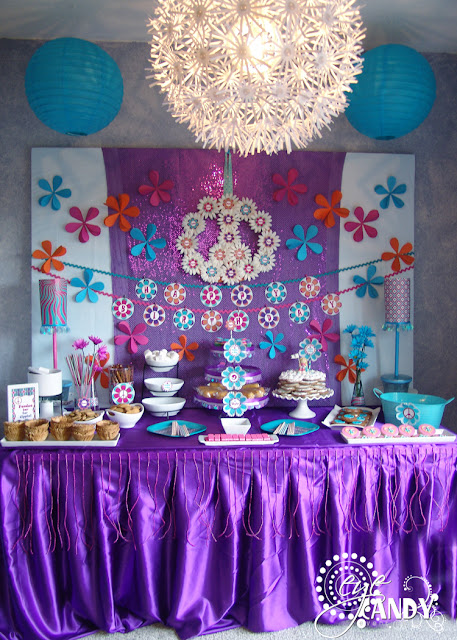 peace party dessert table, peace, love & fun-do party, dessert table