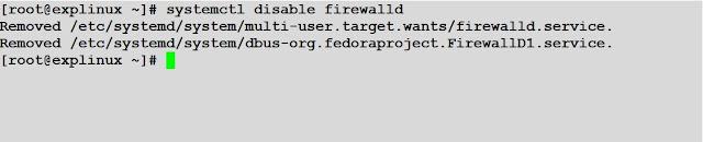 systemctl disable firewalld