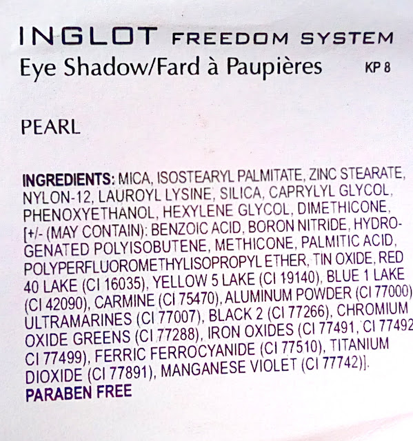 Inglot Freedom System Eyeshadow Refills 50(AMC), 404 (Pearl) and 329 (Matte)
