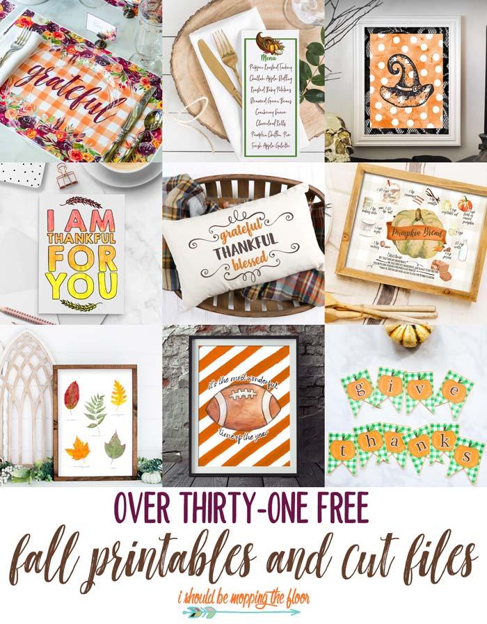 31+ Free Fall Printables