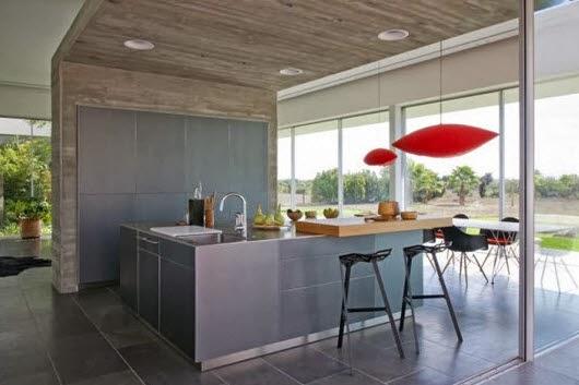 Dise o sencillo de barra de cocina for Disenos de cocinas pequenas con barra