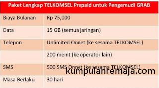 Paket Telkomsel Khusus Untuk Driver Grab
